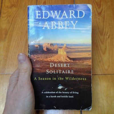 livre d'Edward Abbey à Arches National Park : Desert Solitaire