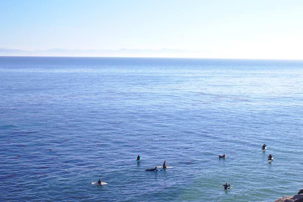 Surfeurs à Santa Cruz