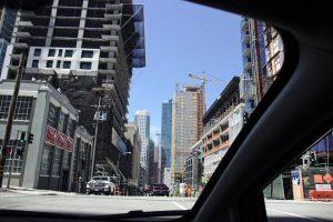 Une rue dans South Market à San Francisco