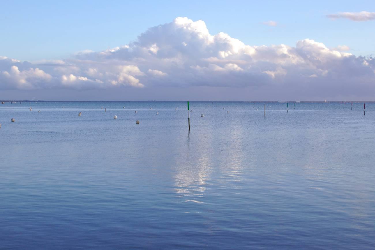 reflet sur le bassin d'arcachon