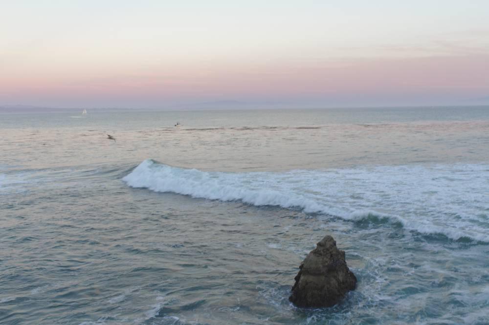 le soir au bord du Pacifique