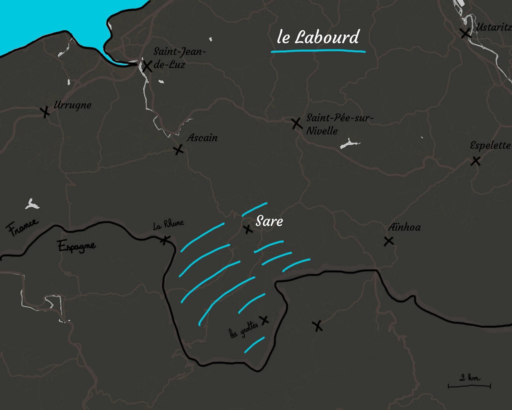 Carte Du Labourd - Sare