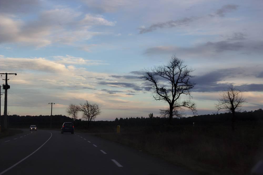 Sur la route au retour du Porge