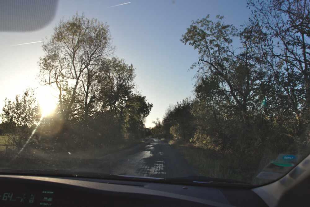 Route qui mène au Parc floral de Bordeaux
