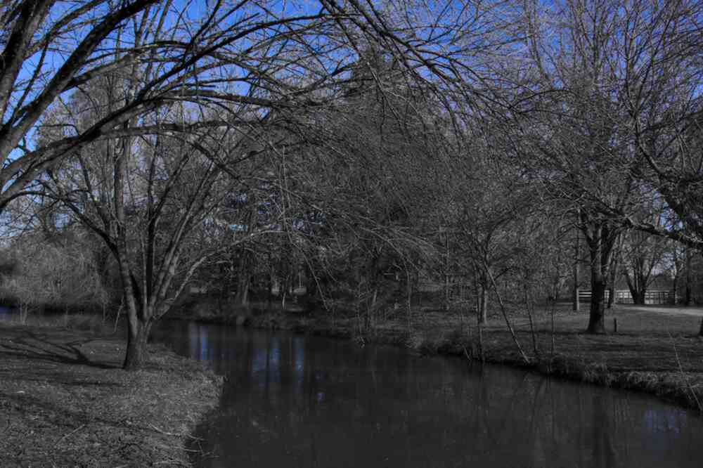 Ciel bleu un jour d'hiver