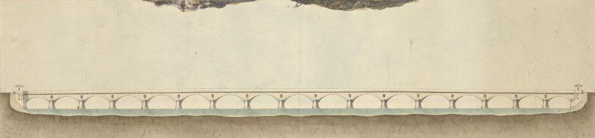Plan pont de pierre -Maître, J. J. B. -Bibliothèque de Bordeaux