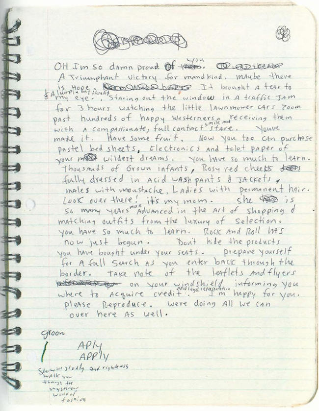 Journal de Kurt Cobain
