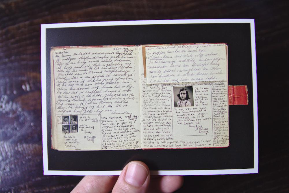 Journal d'Anne Frank Carte Postale