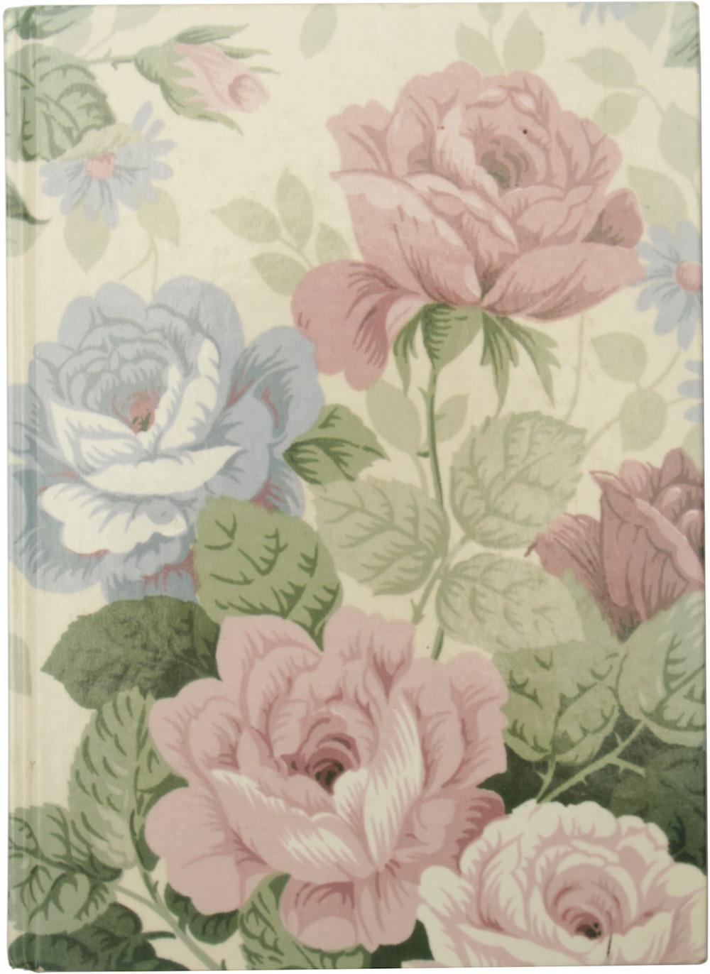 couverture de journal à fleurs (bien kistch)