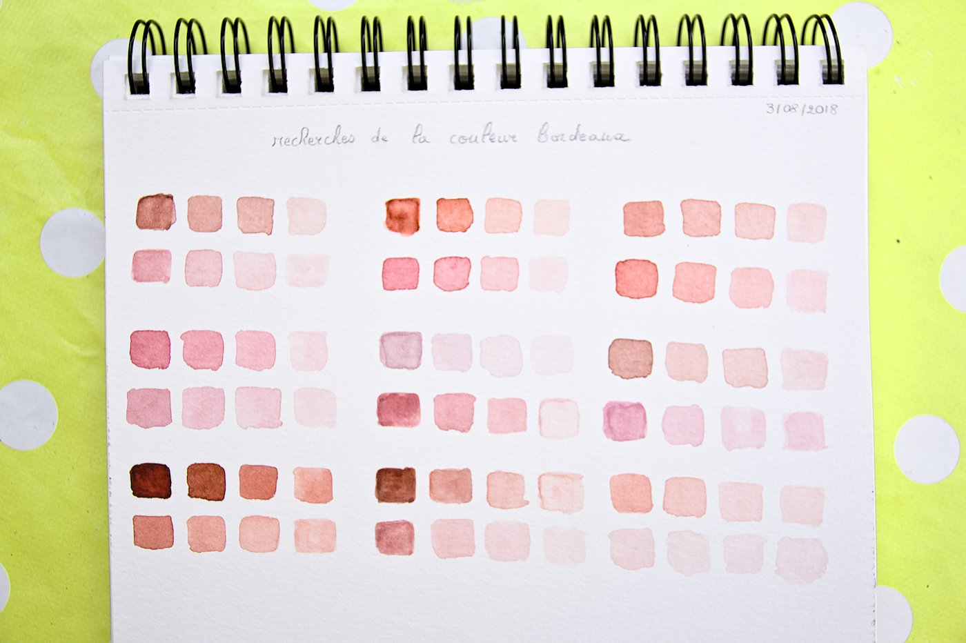 Couleurs Bordeaux Aquarelle