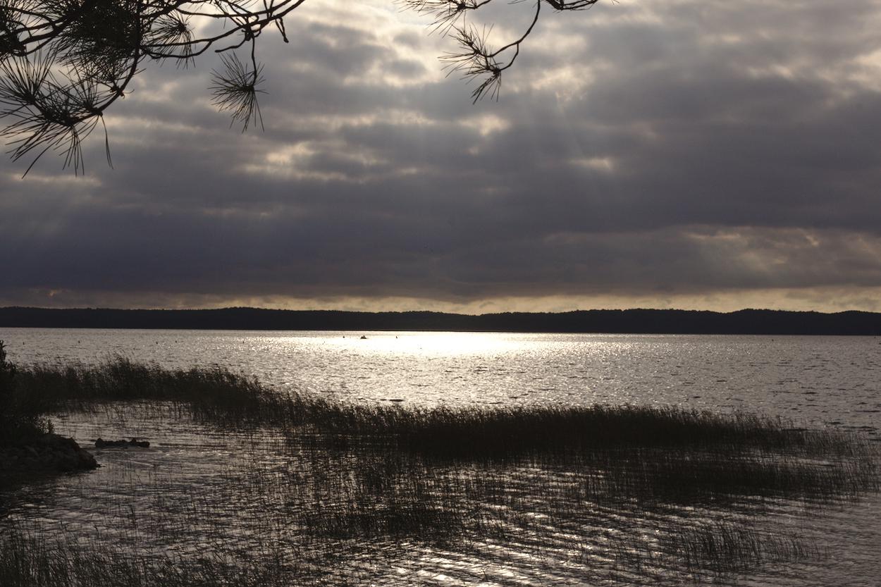 Lac d'Hourtin Coucher de soleil